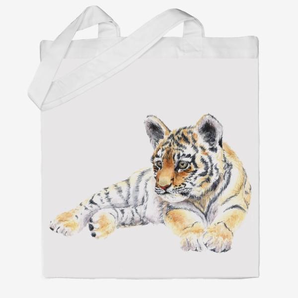 Сумка хб «уссурийский тигренок лежит»