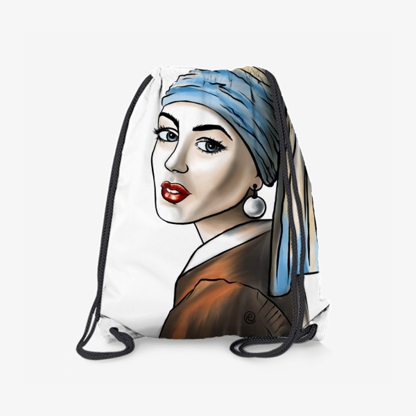 Рюкзак «Девушка с жемчужной сережкой (без фона)»