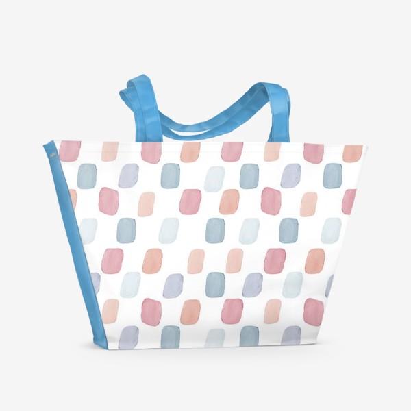 Пляжная сумка «Цветной лёд»