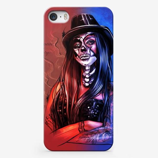 Чехол iPhone «Зловещий макияж. Fashion.  Хеллоуин. День всех святых. Пятница 13ое.»