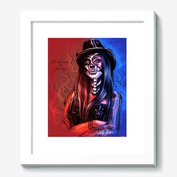 Картина «Зловещий макияж. Fashion.  Хеллоуин. День всех святых. Пятница 13ое.»