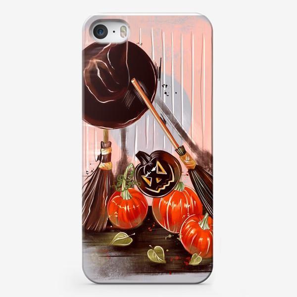 Чехол iPhone «Летающая метла. Хеллоуин. День всех святых. Пятница 13ое.»