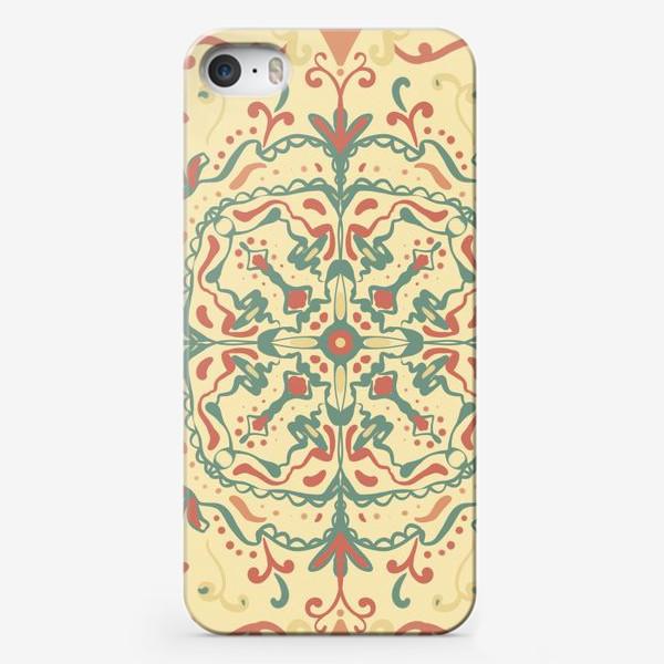 Чехол iPhone «Паттерн.Узоры на желтом фоне »