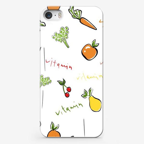 Чехол iPhone «Паттерн.Фрукты»