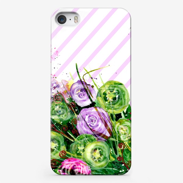 Чехол iPhone «Абстрактные цветы»