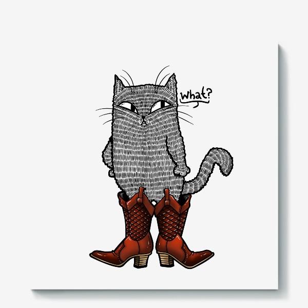 Холст «Кот в сапогах»