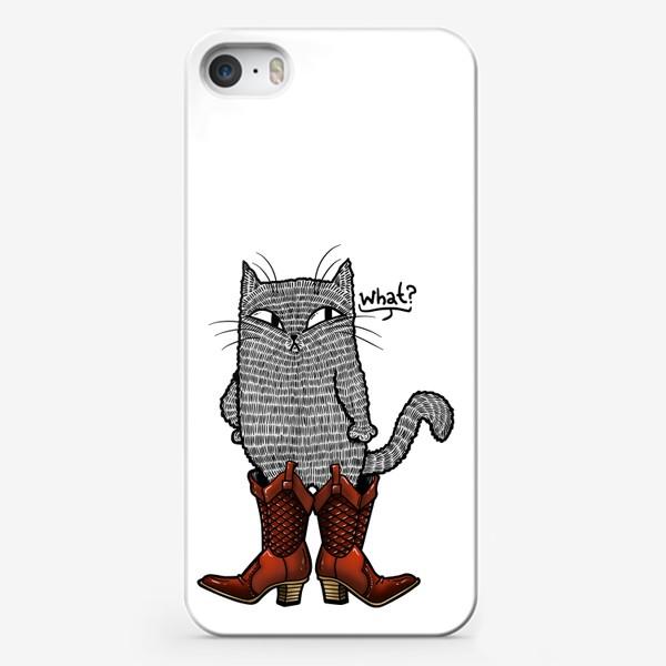 Чехол iPhone «Кот в сапогах»