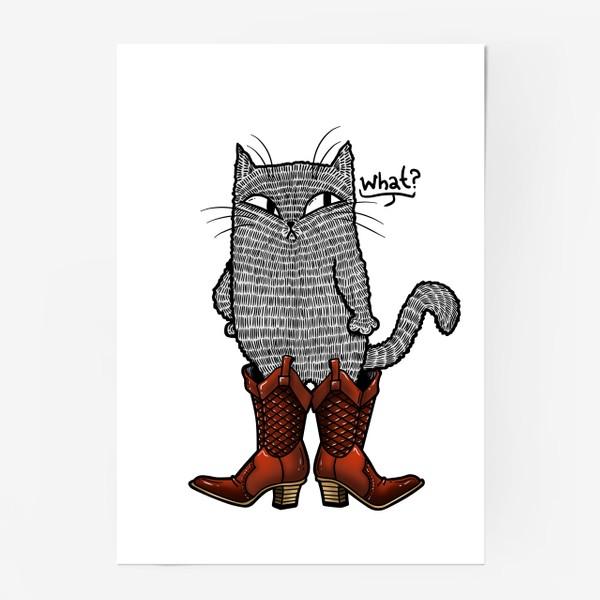 Постер «Кот в сапогах»