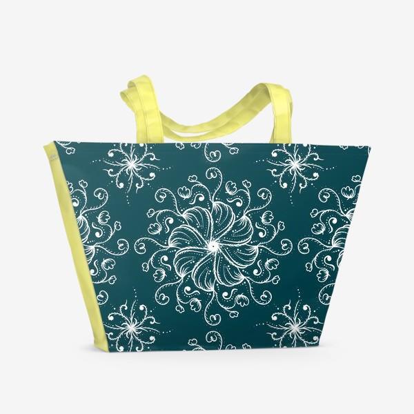 Пляжная сумка «Узор зимний »