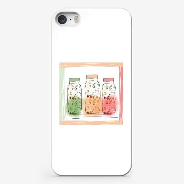 Чехол iPhone «Бутылочки с соком »