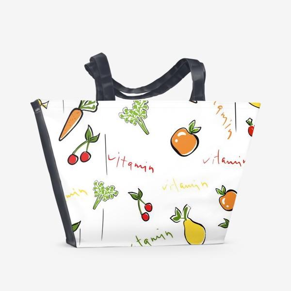 Пляжная сумка «Паттерн.Фрукты»