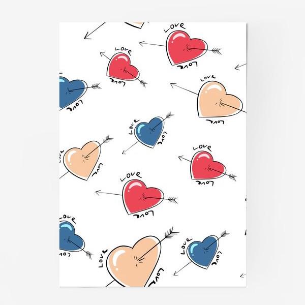 Постер «Сердца со стрелами.Паттерн »
