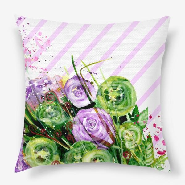 Подушка «Абстрактные цветы»