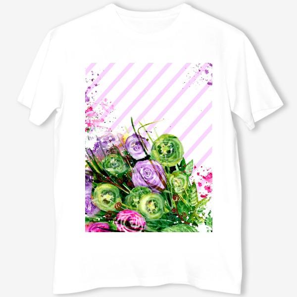 Футболка «Абстрактные цветы»