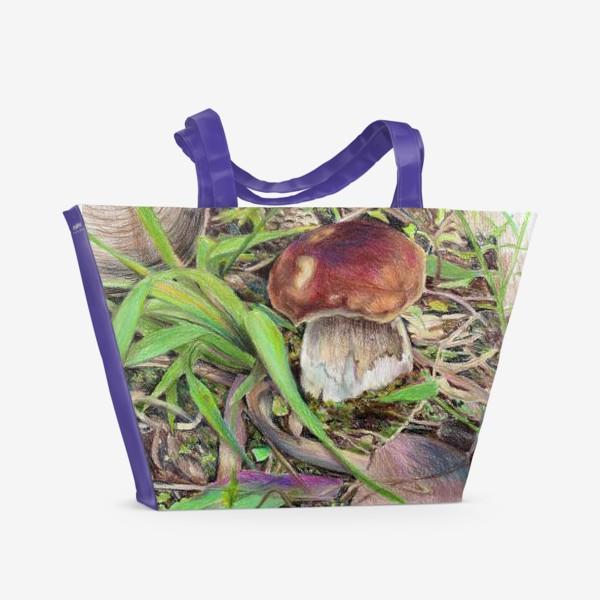 Пляжная сумка «Гриб Боровик»