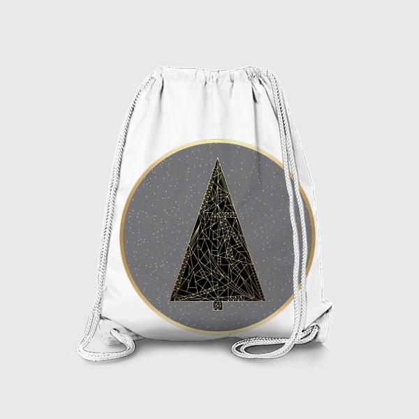 Рюкзак «Елка черная в круге»