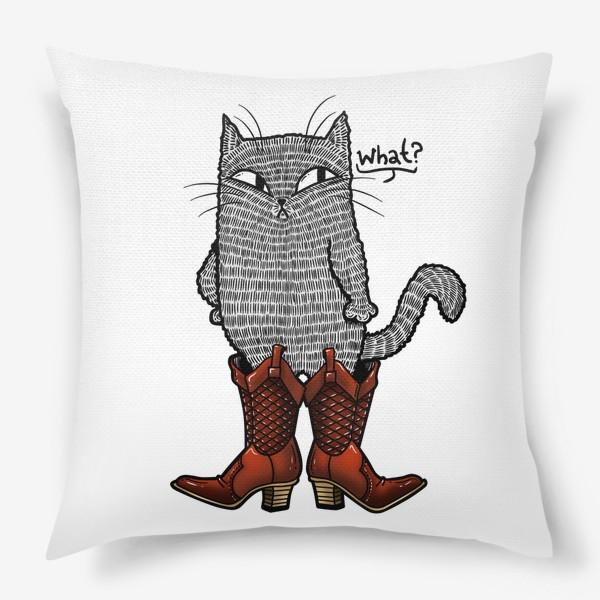 Подушка «Кот в сапогах»