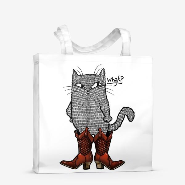 Сумка-шоппер «Кот в сапогах»