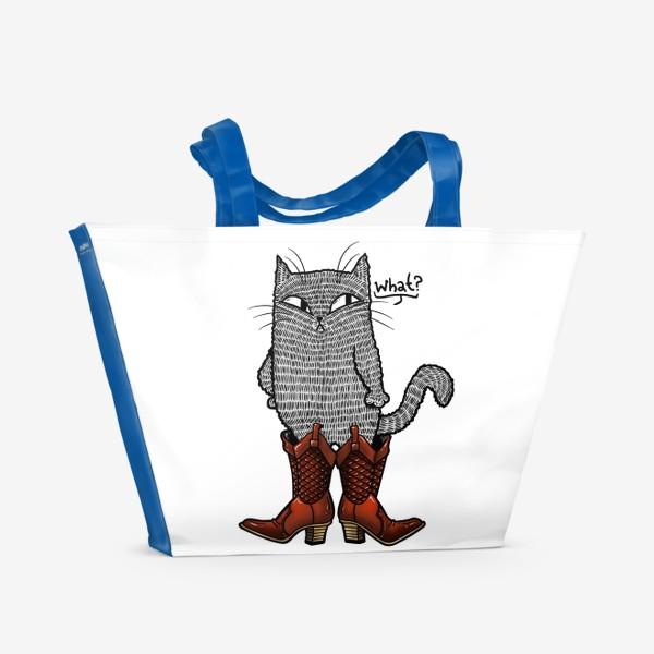 Пляжная сумка «Кот в сапогах»