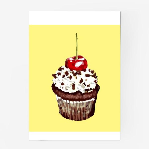 Постер «кекс шоколадный»