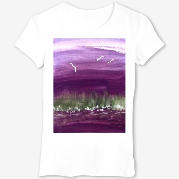 Футболка «Фиолетовый пейзаж»