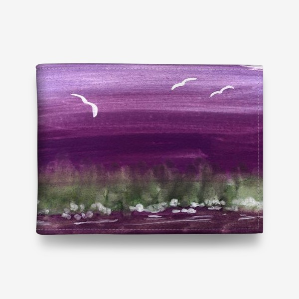 Кошелек «Фиолетовый пейзаж»