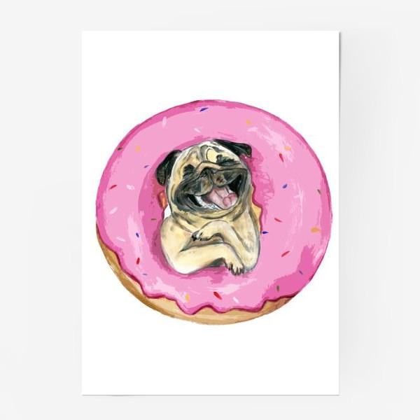Постер «мопс по имени Пончик»
