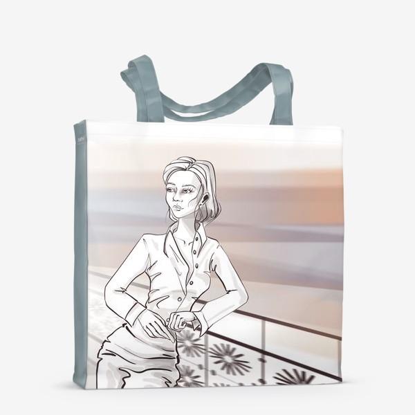 Сумка-шоппер «Деловая девушка в городе»