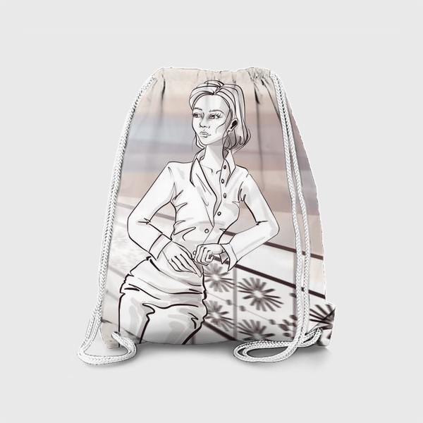 Рюкзак «Деловая девушка в городе»