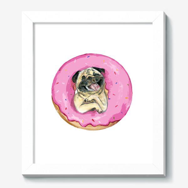 Картина «мопс по имени Пончик»