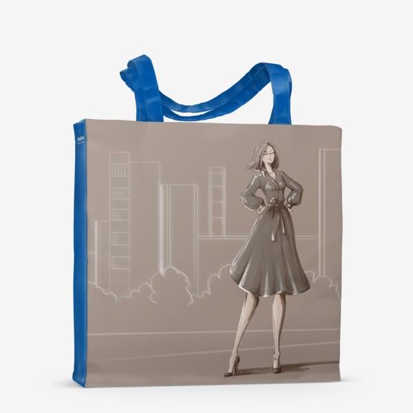 Сумка-шоппер «Девушка в городе»