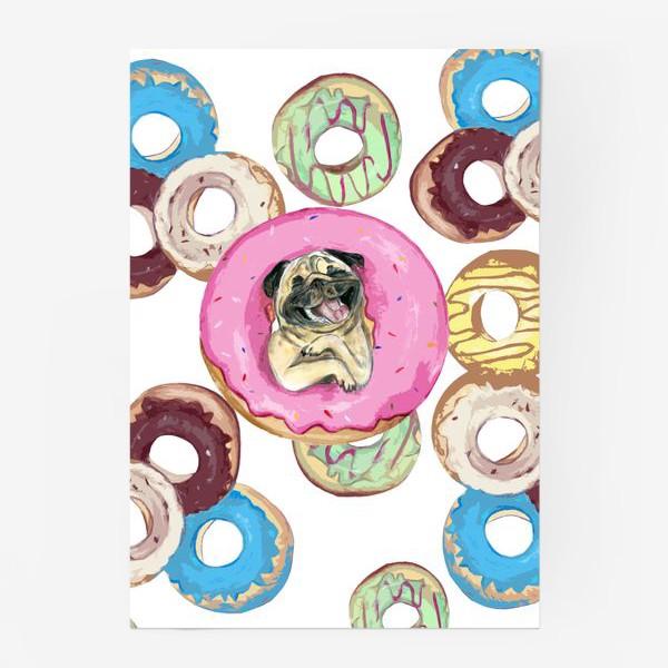 Постер «сладкий мопс Пончик»