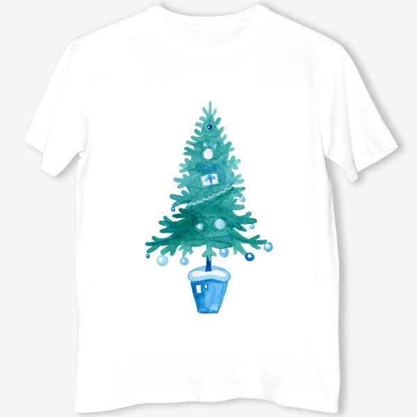 Футболка «Голубая ель»