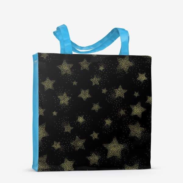 Сумка-шоппер «Звёзды на черном фоне»