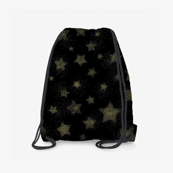 Рюкзак «Звёзды на черном фоне»
