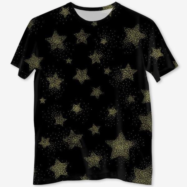 Футболка с полной запечаткой «Звёзды на черном фоне»