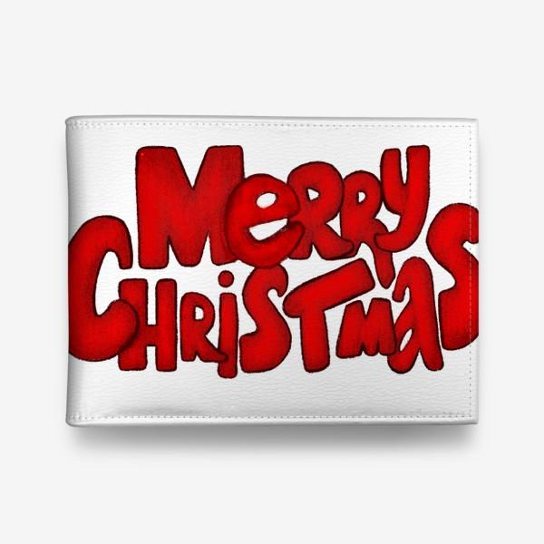Кошелек «Леттеринг - надпись Счастливого рождества»