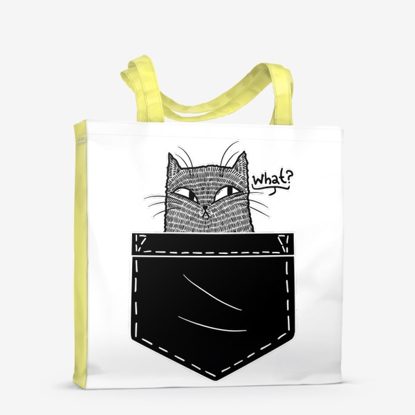 Сумка-шоппер «Кот в черном кармане»