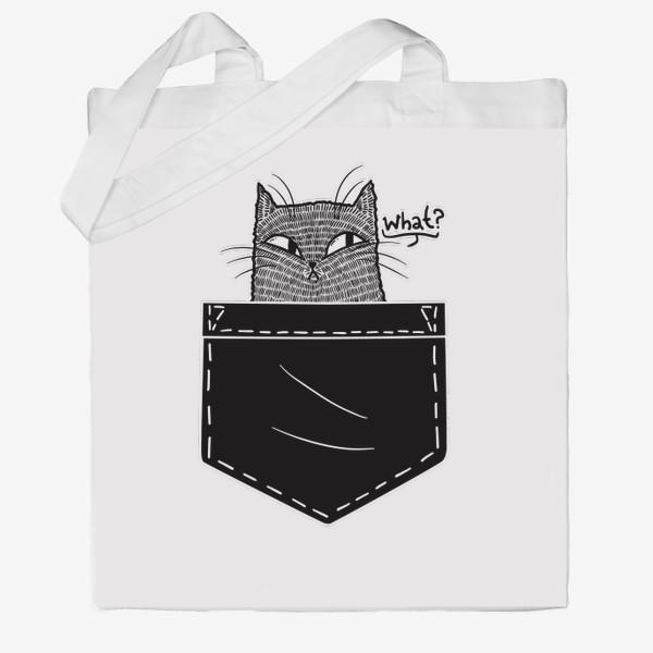 Сумка хб «Кот в черном кармане»