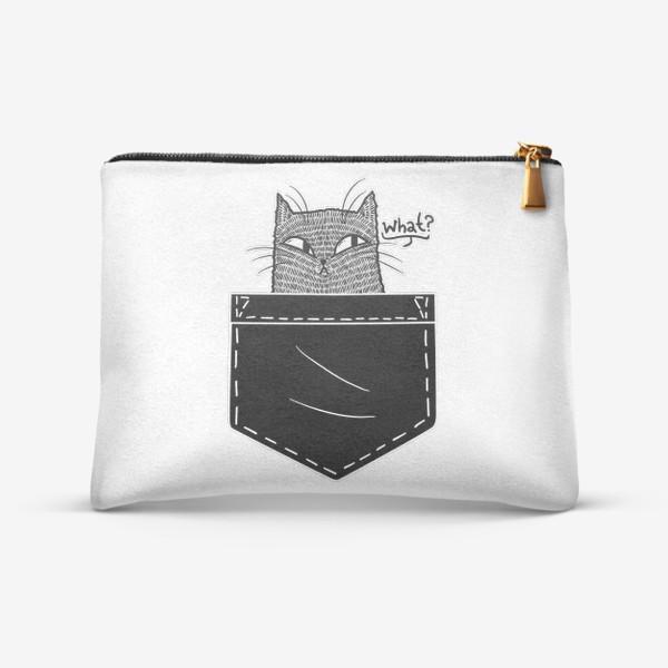 Косметичка «Кот в черном кармане»