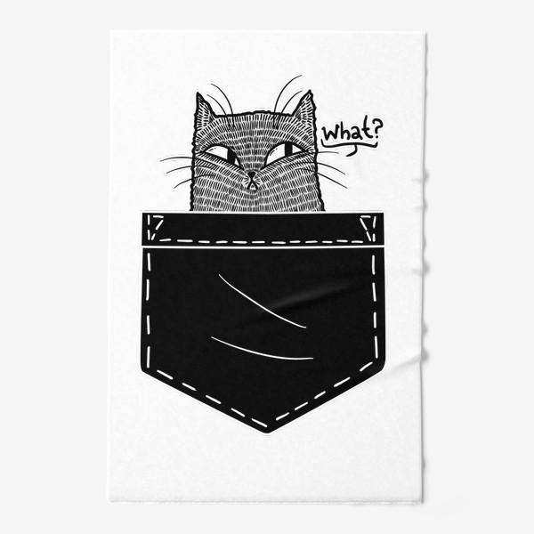Полотенце «Кот в черном кармане»