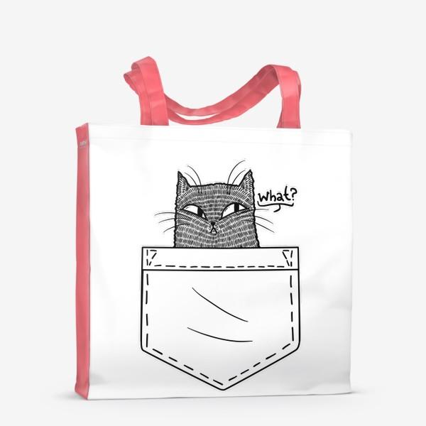 Сумка-шоппер «Кот в белом кармане»