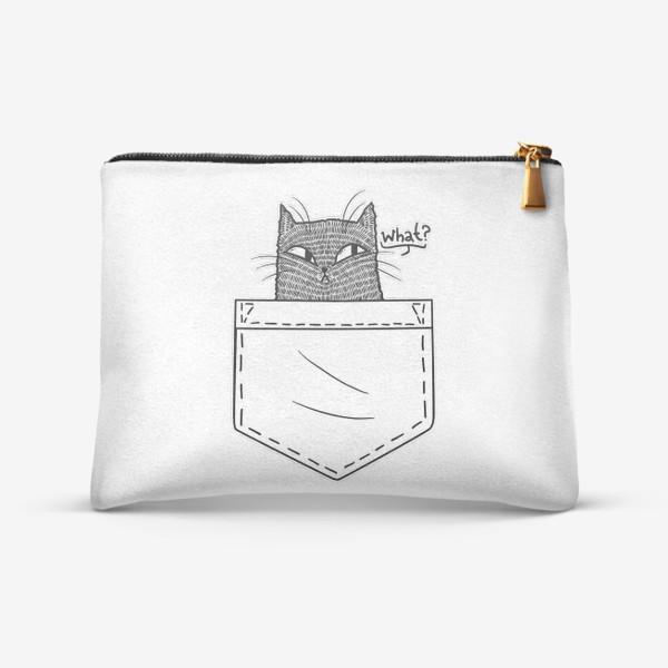 Косметичка «Кот в белом кармане»