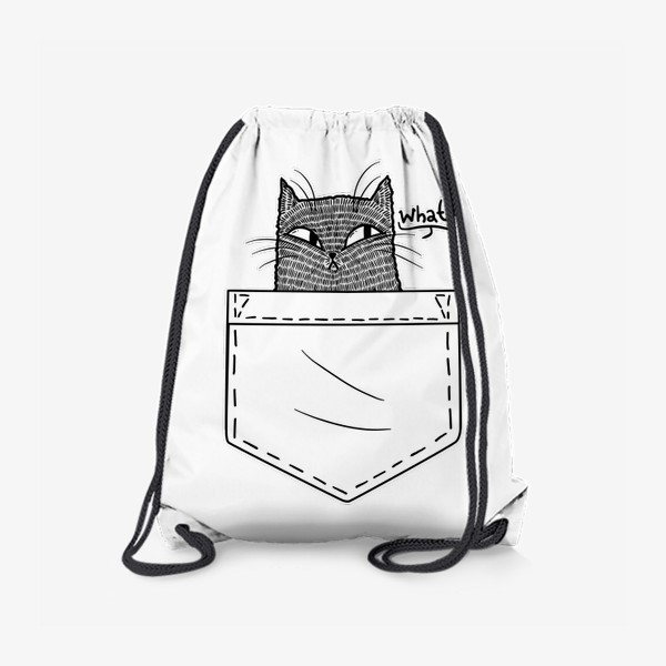 Рюкзак «Кот в белом кармане»