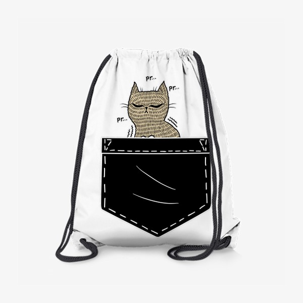 Рюкзак «Котик в черном кармане»