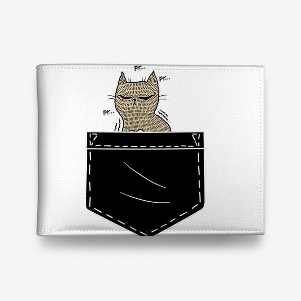 Кошелек «Котик в черном кармане»