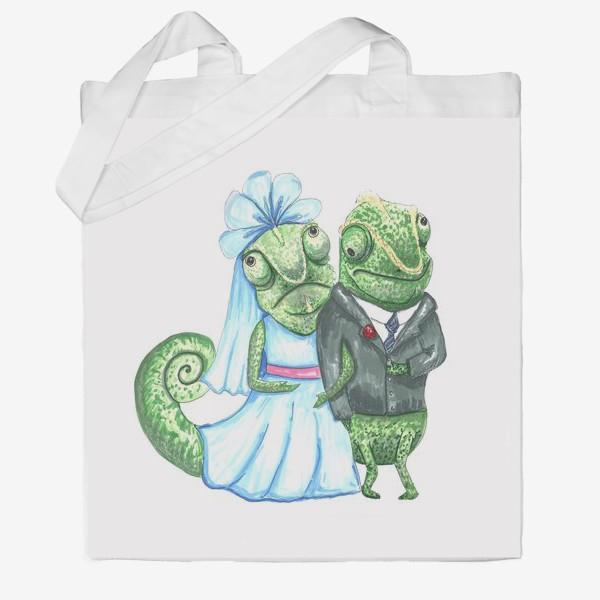 Сумка хб «Свадьба хамелеонов»