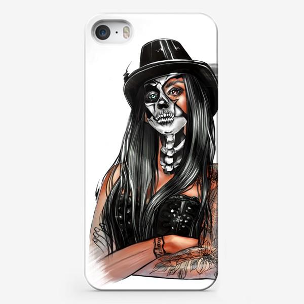 Чехол iPhone «Зловещий макияж (без фона)»