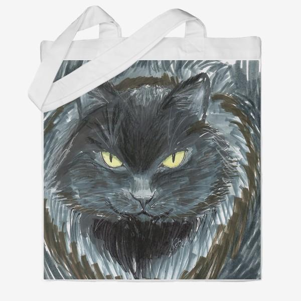 Сумка хб «Черный кот»