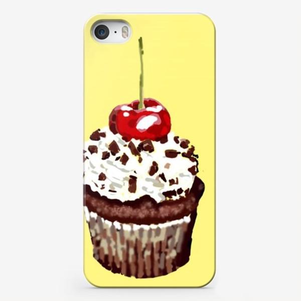 Чехол iPhone «кекс шоколадный»